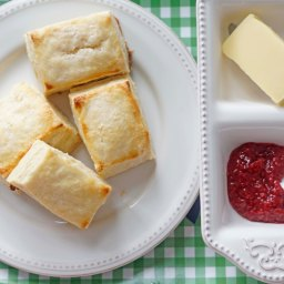 Homemade Biscuits and Jam